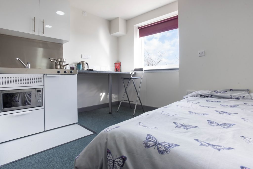 Studio student accommodation in Stoke at Poulson House, Stoke-on-Trent