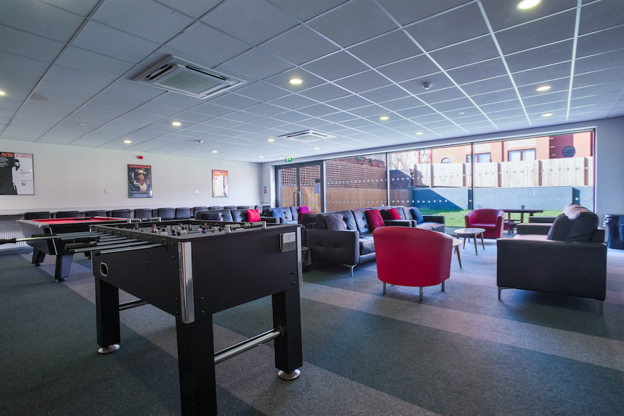 Poulson House common room - student accommodation in Stoke-on-Trent